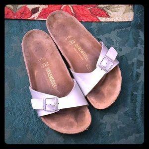 Birkenstocks. Mauro style. Silver. Size 7